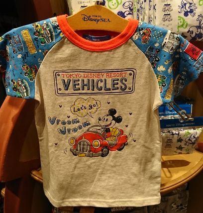東京ディズニーリゾート ミッキー 乗り物 Tシャツ 100〜120