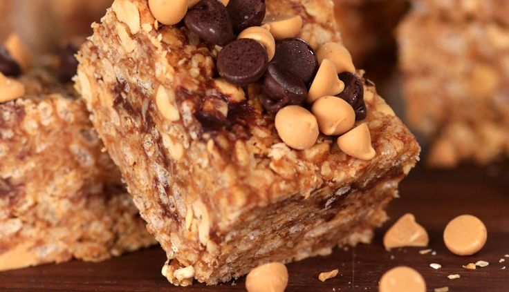 | No-Bake Rice Krispies Peanut Butter Granola Bars