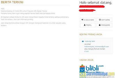 Dasbor akun situs paid survey Gfk Indonesia | SurveiDibayar.com