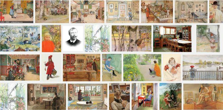 Carl Larsson, egy újabb egységes képi világú grafikus