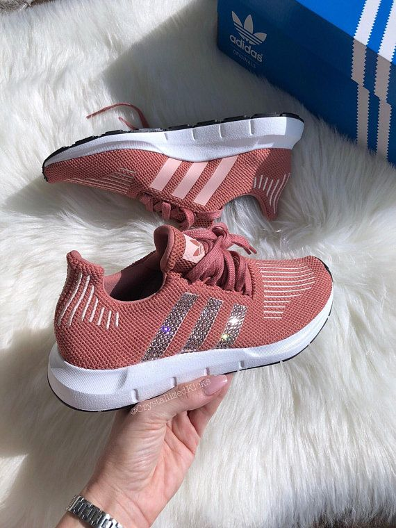2731a43b58268 Adidas Swift Run Made with SWAROVSKI® Xirius Rose Crystals - Salmon White