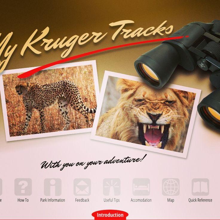 Cover page for Kruger Tracks app #krugertracks