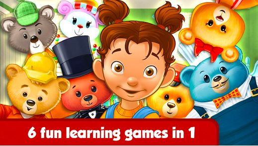 Too Many Teddy Bears. The app for 3+ kids. Good variety of simple mini-games. Read our review and watch the video: http://www.appysmarts.com/application/too-many-teddy-bears,id_122574.php
