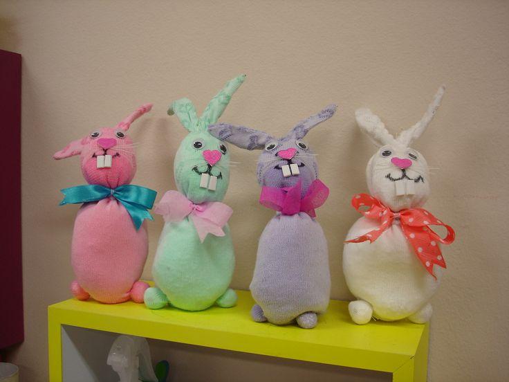 Bunnies from socks