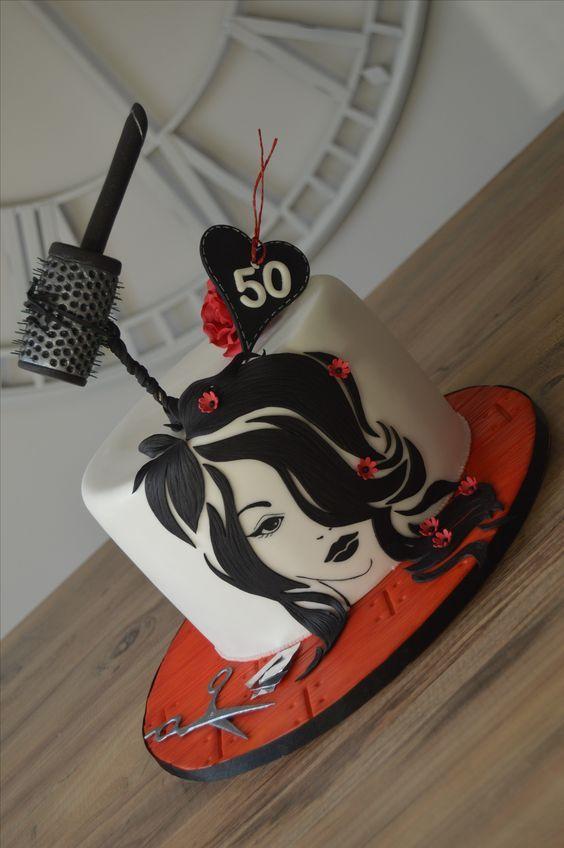 Hairdresser cake: