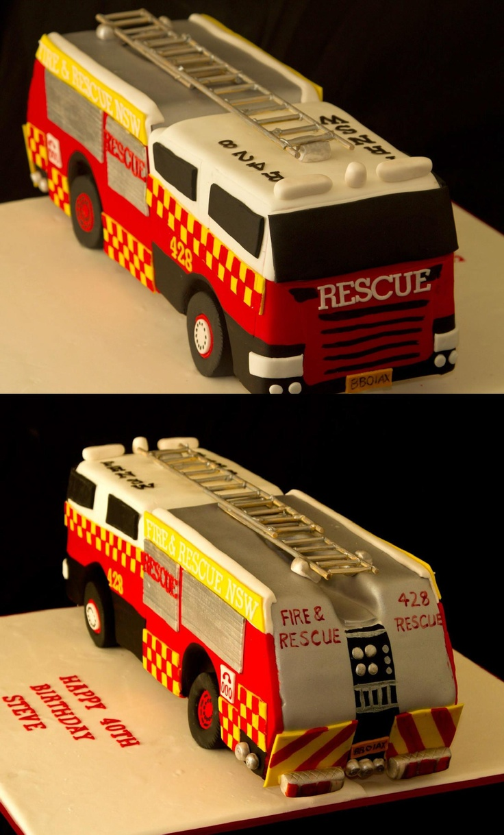Fire Engine Birthday Cake | Shared by LION