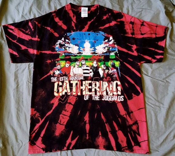 Reverse Tie Dye 13th Annual Gathering Of The Juggalos Tee ICP Insane Clown Posse