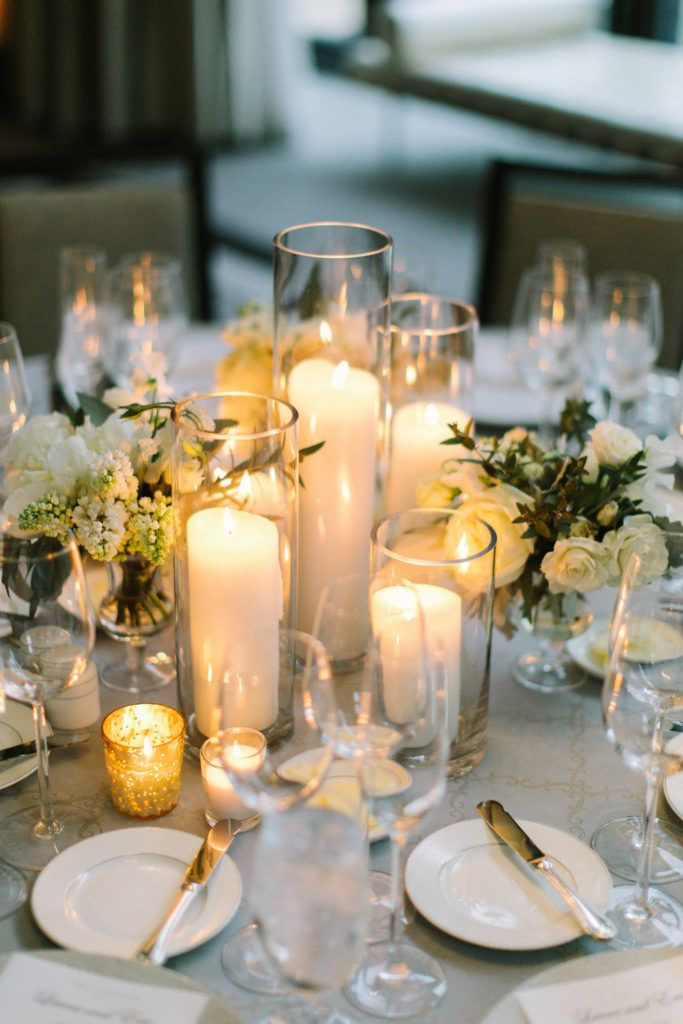Langham Chicago Wedding With Peonies Lilac Sweet Pea Photo By Tim Tab Table Centerpieces Wedding Candles Wedding Candles Table Candle Wedding Centerpieces