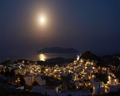 Ios Island full moon view! http://blog.levantes.gr/2013/06/ios-nightlife.html