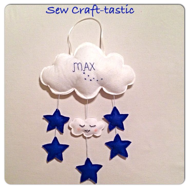 Hanging name cloud/ mobile.  Www.facebook.com/SewCraft-tastic