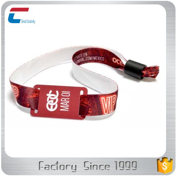 13.56mhz custom ticket programmable entrance RFID wristband for all event