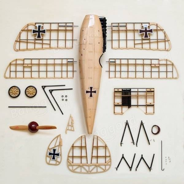 Albatross D.III German Fighter 492mm Balsa Wood Airplane Handicrafts Complete Version Sale - Banggood.com
