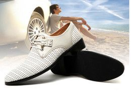 2016 Dressing Black White Shoes Men Style 2014 NEW HOT style white breathable leather cusp shoes dress shoes men's casual shoes groom wedding shoes 3 color Dressing Black White Shoes Men Style on sale