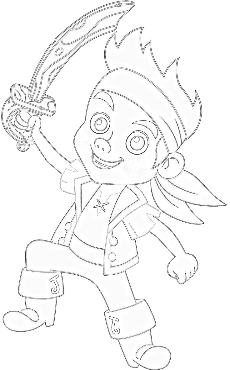 Coloring pages for jake and the neverland pirates - Jake And The Neverland Pirates Coloring Pages