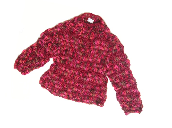knitted pullover in own design