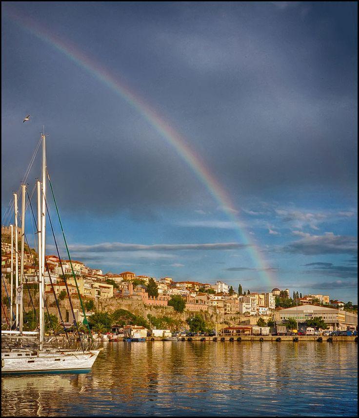 The port of Kavala city