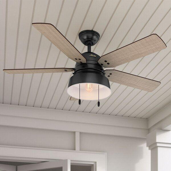 Industrial And Rustic Design Come Together To The Ceiling Fan With Details Including Vintage Style Rive Ceiling Fan With Light Outdoor Ceiling Fans Ceiling Fan