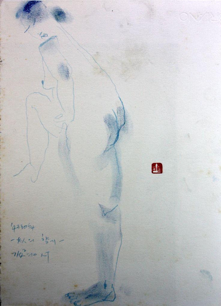 https://www.facebook.com/sahong.gum Gum-Sahong Drawing.Blue 금사홍,드로잉,블루