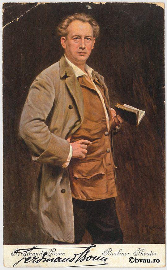 "Ferdinand Bonn, Berlin, 1906. Imagine din colecțiile Bibliotecii ""V.A. Urechia"" Galați."