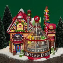 North Pole M&M's Candy FactoryPole Village, Candies Factories, Christmas Village, Dept56 North, 56 Village, Dept 56 North, Christmas Decor, Holiday House, North Pole