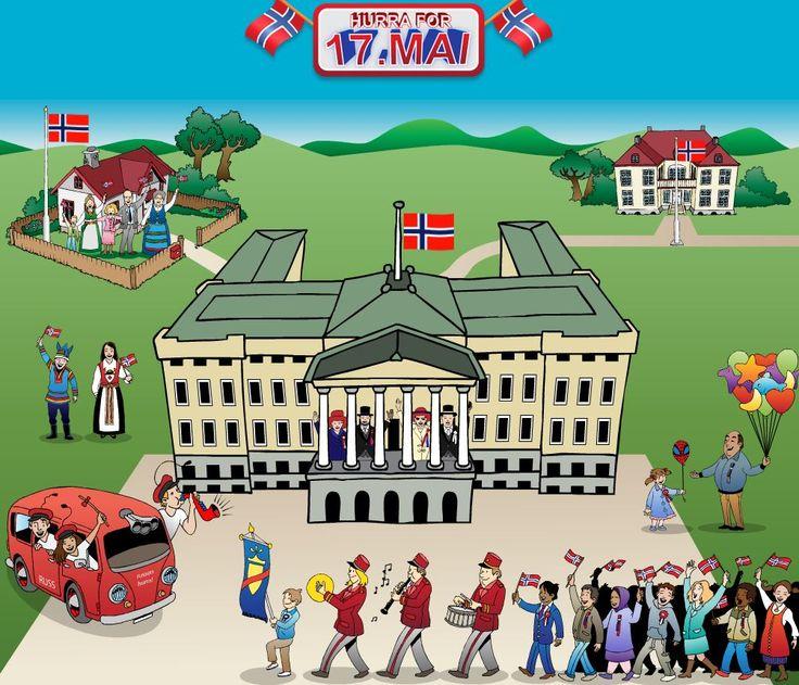 Feiringen av 17.mai er et særnorsk fenomen, som det kan være verdifullt å få en innføring i for innvandrere. Passer i kurs i norsk for andrespråklige.