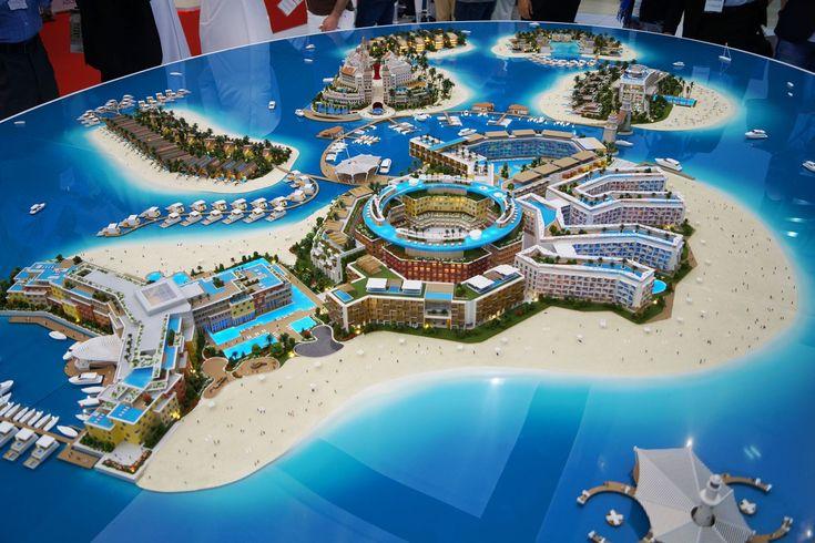 The Heart of Europe, Dubai, developers 3D masterplan model