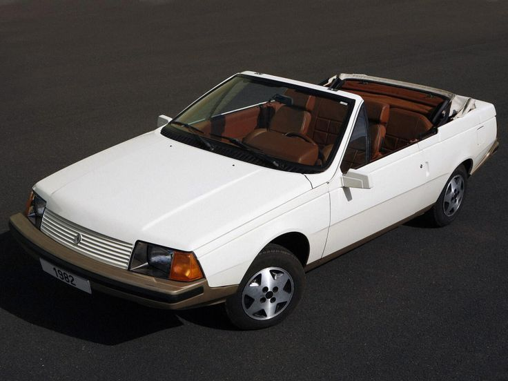 Renault Fuego USA cabriolet, 1982.