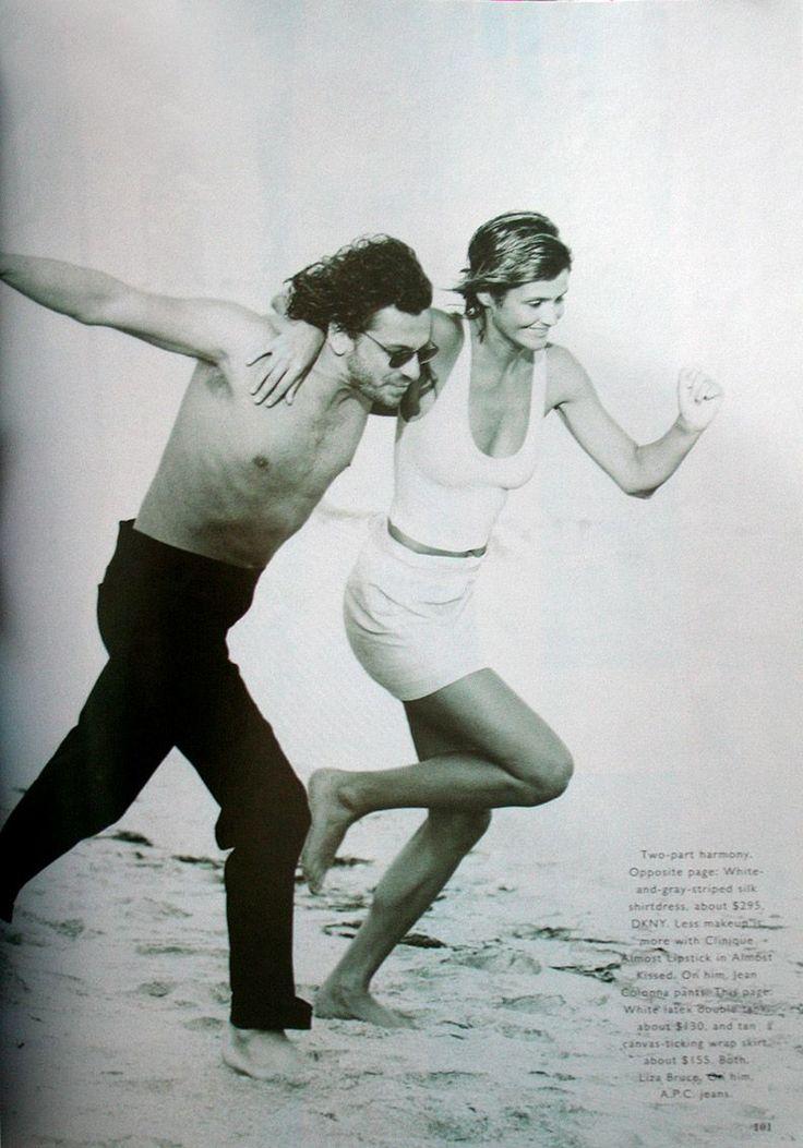 Harper's Bazaar - Helena Christensen & Mickaël Hutchence - 1994