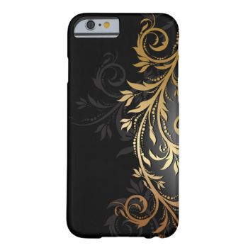 Black and Gold Floral Vine #metallic #glitter #flowers #flora #floral #hipster #modern #trendy #nature #retro #natural #stylish #popular #new #affordable #inexpensive #creative #unique #girl #woman #women #teen #teenager #elegant #classy #christmas #gift #present #cover #covers #cell #phone #gold #golden #cute #swirl #swirls #professional #birthday #black #ebony