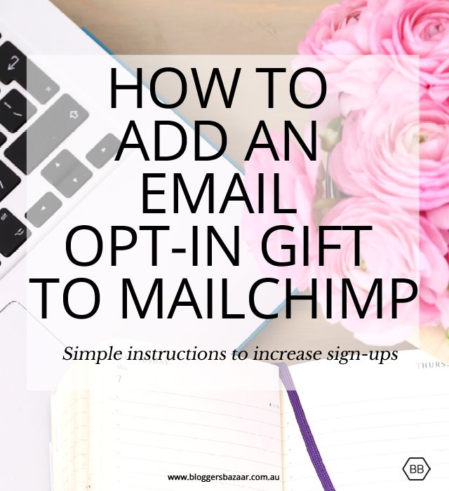 Bloggers Bazaar | How to add an email opt-in to Mailchimp…