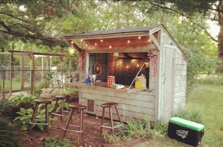 backyard bar shed