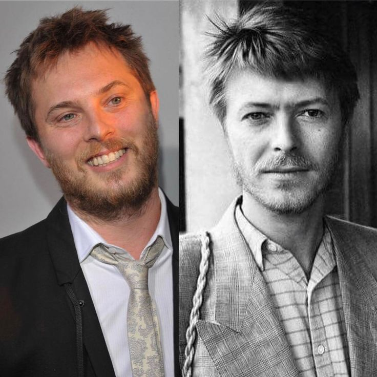 Duncan Jones aka Zoey Bowie and his dad, the late, great David Bowie.