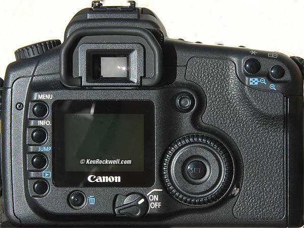 Canon 20D rear
