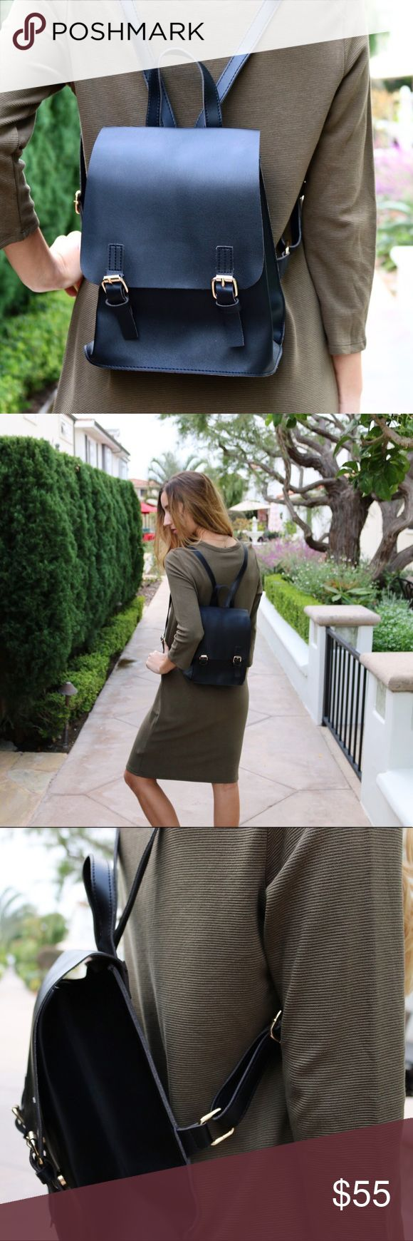 black backpack purse offers welcome black faux leather buckle backpack. photos belong to XOmandysue.com. •87127567• Bags Backpacks