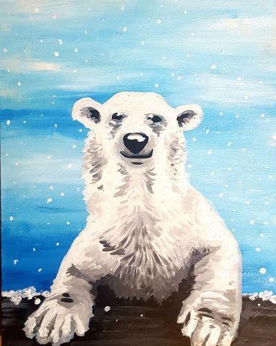 Paint Nite. Peter Polar Bear