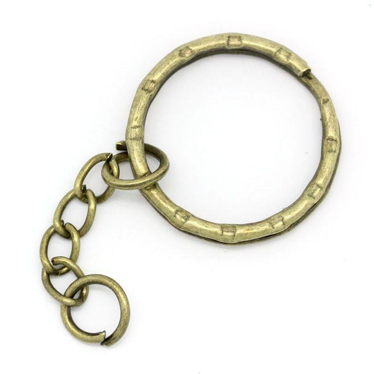 Doreen Kutusu sıcak Anahtarlıklar & Anahtar Yüzükler Antik Bronz 5.3 cm, 30 Adet (B22221)