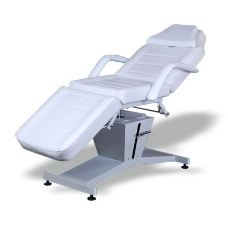 #Salonbed #Massagetable #TattooTable #HBA #Salon #Equipment #NewZealand  Donna Beauty Bed (BE07.1)  $990.00 (GST Excl.)   Production/delivery time 10-12 weeks   •163(186)D×82W×72(85.5)Hcm  •Plywood structure with metal reinforcement;  •Powder coated steel frame;  •Upholstered with high density foam and top quality 1.2mm vinyl;  •Removable armrest with pillow insert;  •Powerful height adjustable hydraulic pump;  •Head and leg section manual adjustable;   •360 degree rotation.