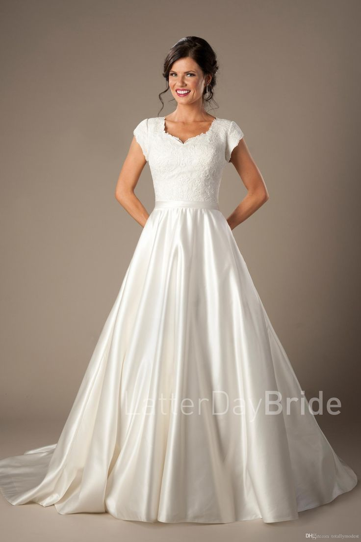 Best 25 pictures of wedding dresses ideas on pinterest for Elegant modest wedding dresses
