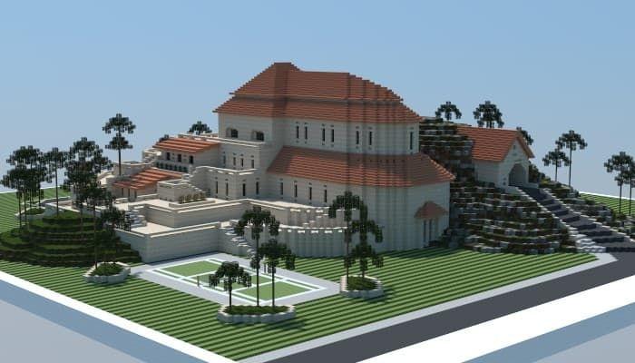 Sandstone Mansion Minecraft Building Ideas Download Plaza Fancy Huge Amazing 3 Minecraft House Designs Minecraft Mansion Mansions