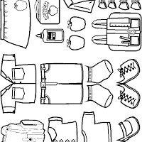 Artículo sobre MUÑECOS Y ROPA RECORTABLES PARA PINTAR Y JUGAR contenido en Pintar dibujos