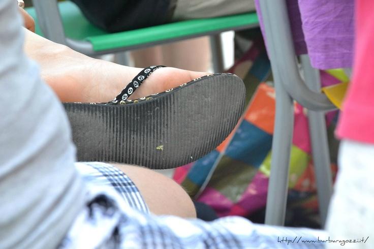 Retail soles of flip-flops