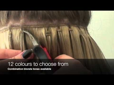 No sew bead weft no braid quick weft extensions - YouTube