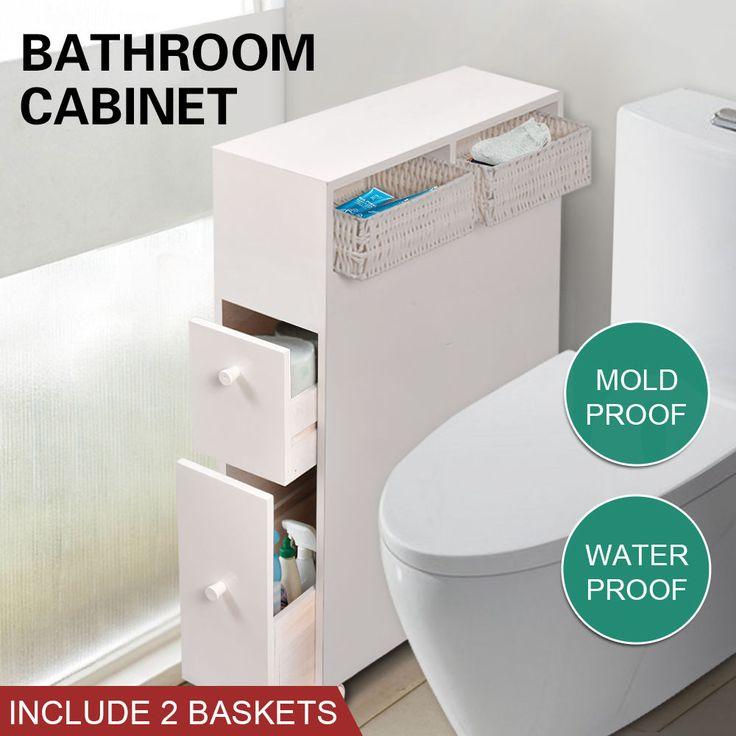 Bathroom Storage Caddy Utility Toilet Cabinet Tissue Box Holder Cupboard Cover