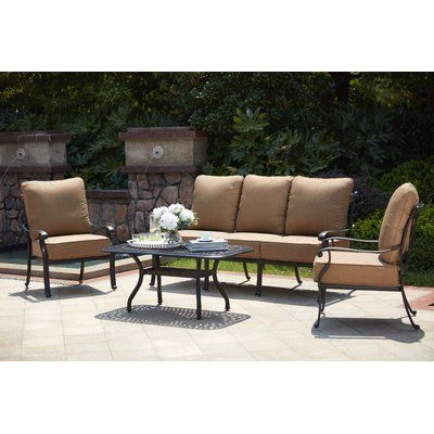 Best Astoria Grand Melchior 4 Piece Sofa Seating Group With 640 x 480