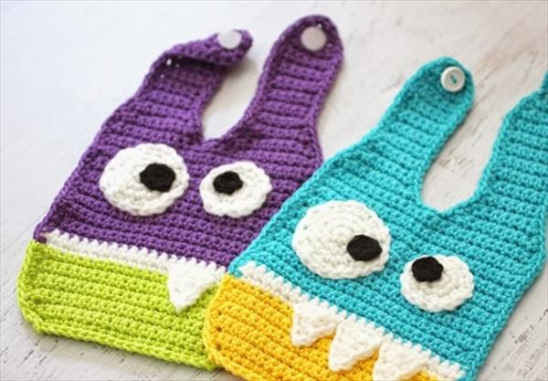 Crochet Monster Pattern for Baby Bibs Free | 101 Crochet
