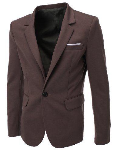 FLATSEVEN Mens Slim Fit Casual Premium Blazer Jacket Khaki, Boys L (Chest 36)  http://www.flatsevenshop.com/blazers/ #mensfashion #clothing #fashion #men #jacket