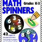42 full-page, full-color double spinners! Use with a paper clip and pencil as games and practice by themselves or put with your own games instead of dice. Download the free preview for 2 free spinners!