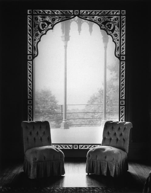 "Things I Can't Live Without:  ""Olana, Two Chairs"" by the incomparable photographer @Jean Kallina.  Olana, Hudson River School Painter Fredric Church's Persian style home is a beautiful inspiration.   http://www.olana.org/"