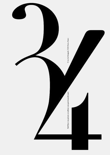 Carte de vœux personnelle, 34, black & white | typography / graphic design: Rudi Meyer |