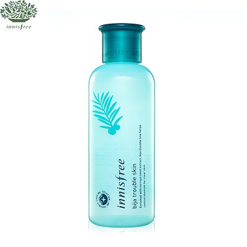 INNISFREE Bija trouble skin 200mlA toner made from natural Jeju torreya for treating blemished skin!1. The outstanding healing effects of the torreya seed oil help troubled skin.2. Contains natural salicylic acid for exfoliation and blemish ca